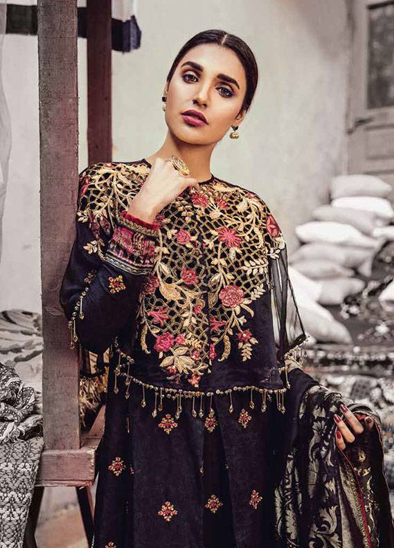 Bashir Ahmed Embroidered Lawn Unstitched 3 Piece Suit SB18L 11 - Spring / Summer Collection