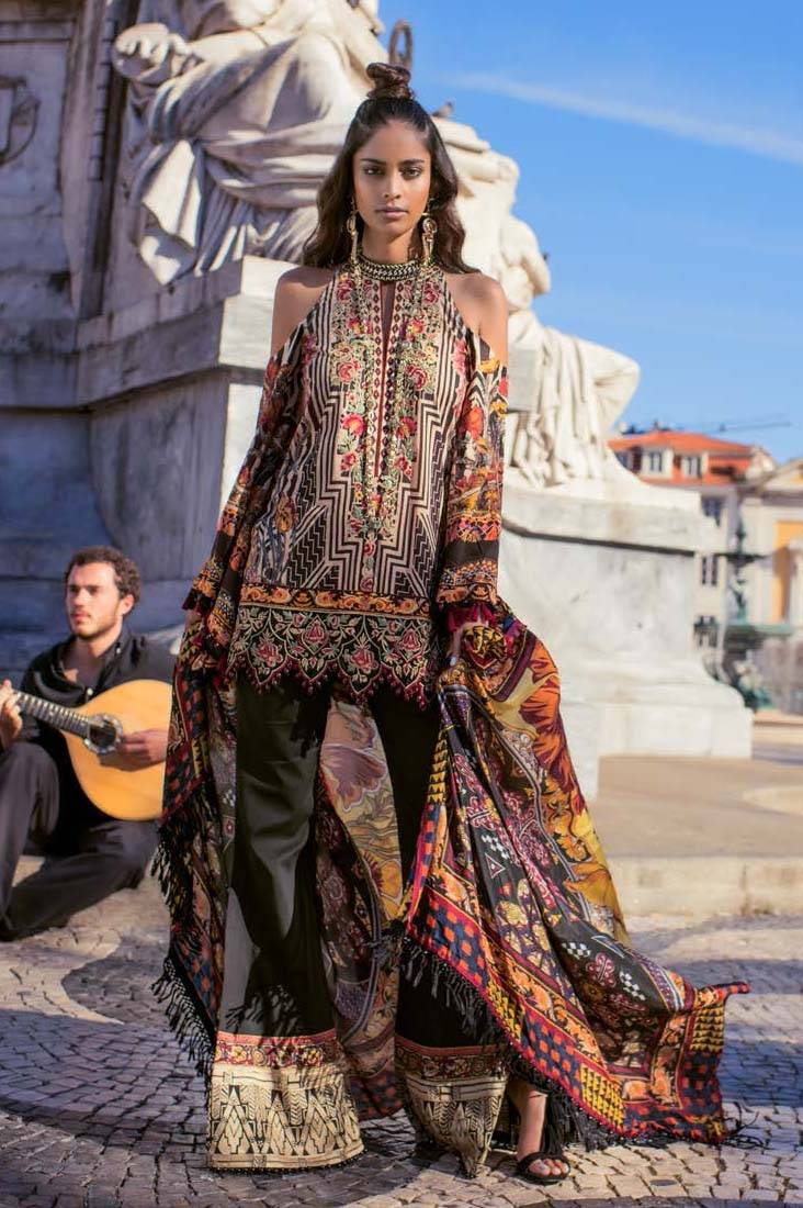 Shehla Chatoor Embroidered Lawn Unstitched 3 Piece Suit SC17L 7A