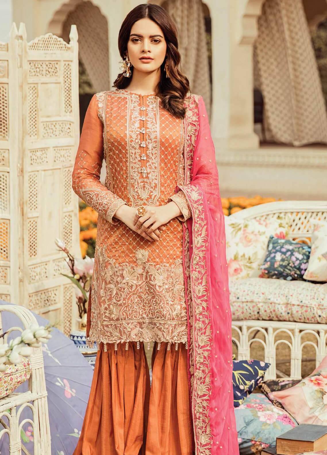 Serene Premium Embroidered Missouri Unstitched 3 Piece Suit SEI19PC 09 Tigress Fleur - Premium Collection