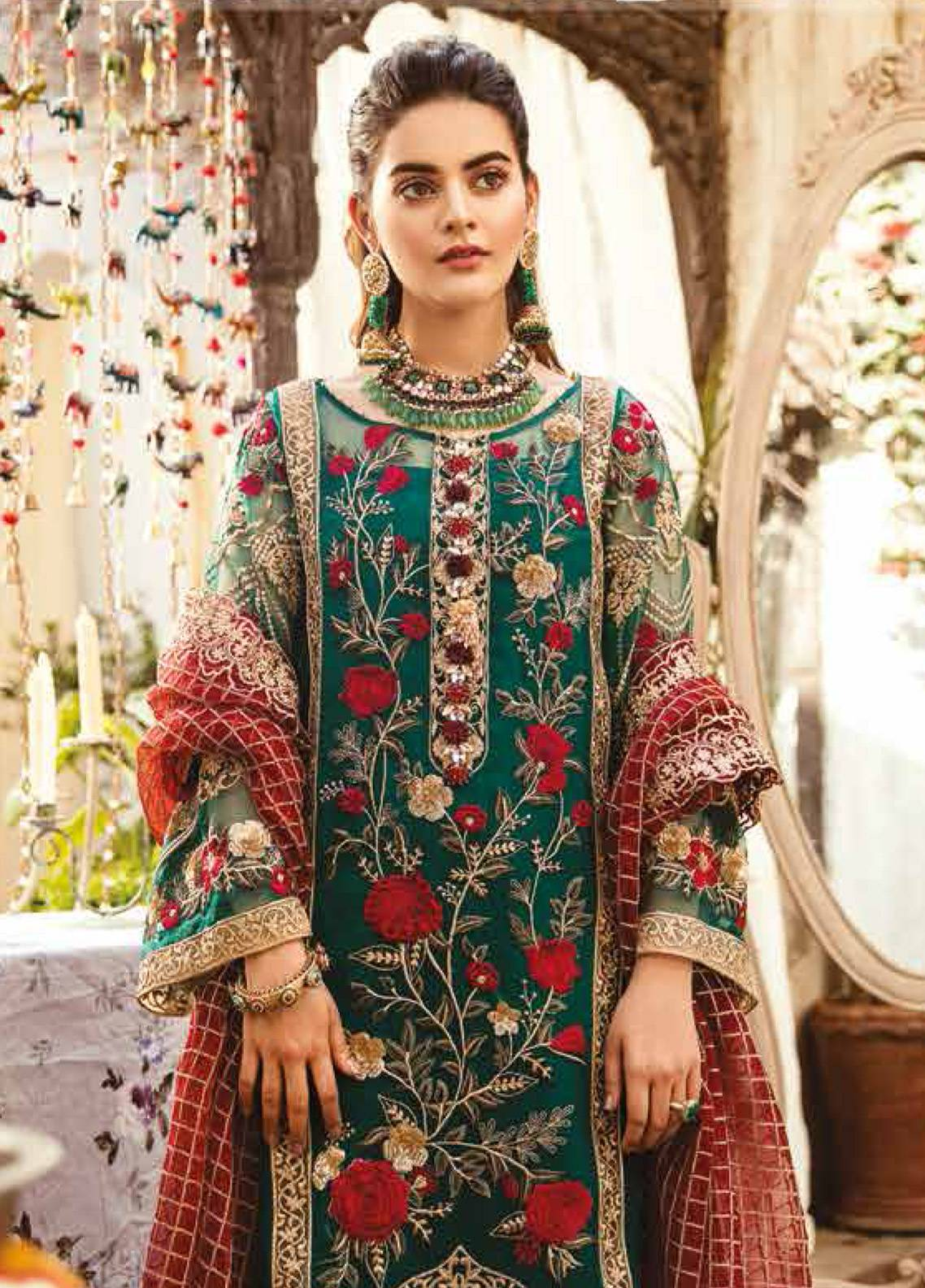 9281704ab Imrozia by Serene Embroidered Organza Unstitched 3 Piece Suit SEI19E 706 THE  MYSTIC OCEANIA - Luxury