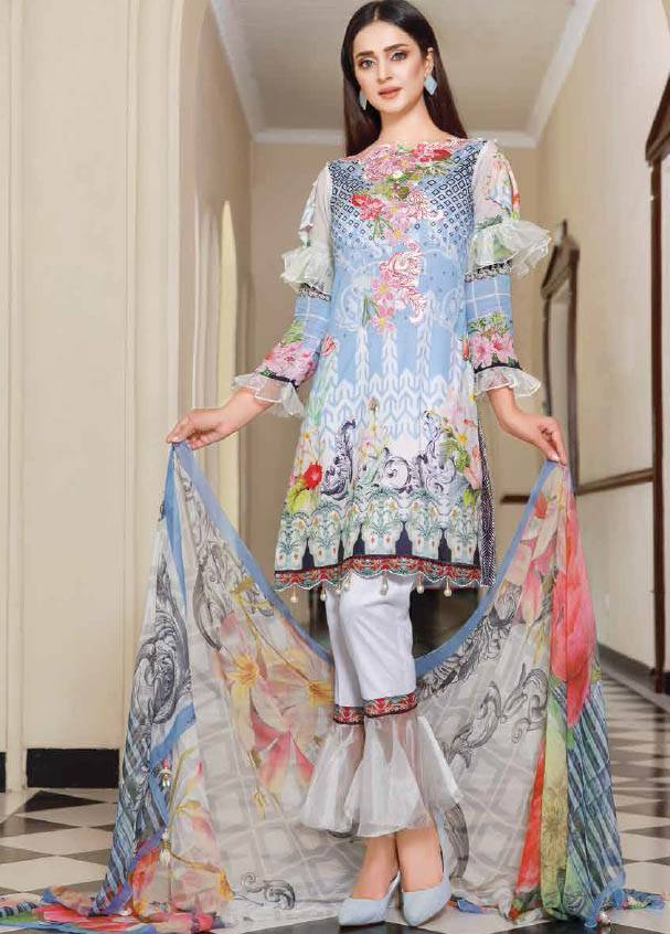 Sifona Embroidered Lawn Unstitched 3 Piece Suit SF17B 04