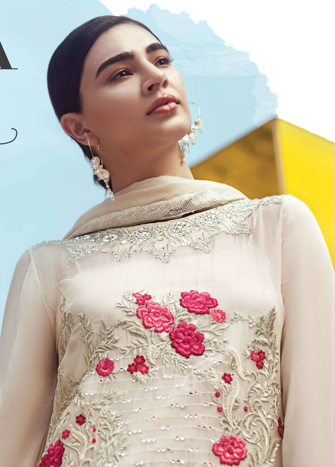 Serene Premium Embroidered Pure Chiffon Unstitched 3 Piece Suit SFF18C 07 - Chiffon Collection