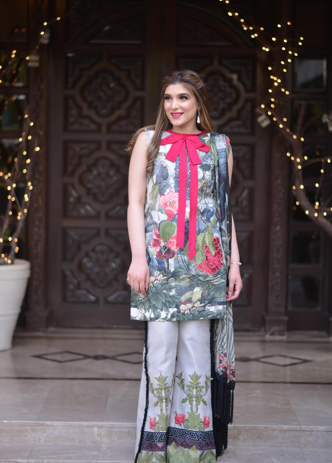 Shiza Hassan Embroidered Lawn Unstitched 3 Piece Suit SH19L 10B BALI BLOOM - Spring / Summer Collection