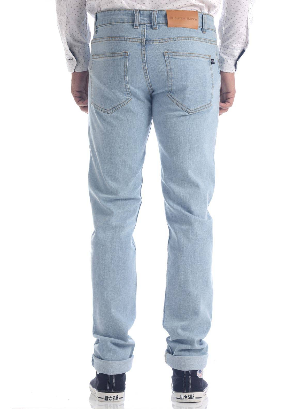 Shahzeb Saeed Denim Casual Men Jeans - Sky Blue DNM-91