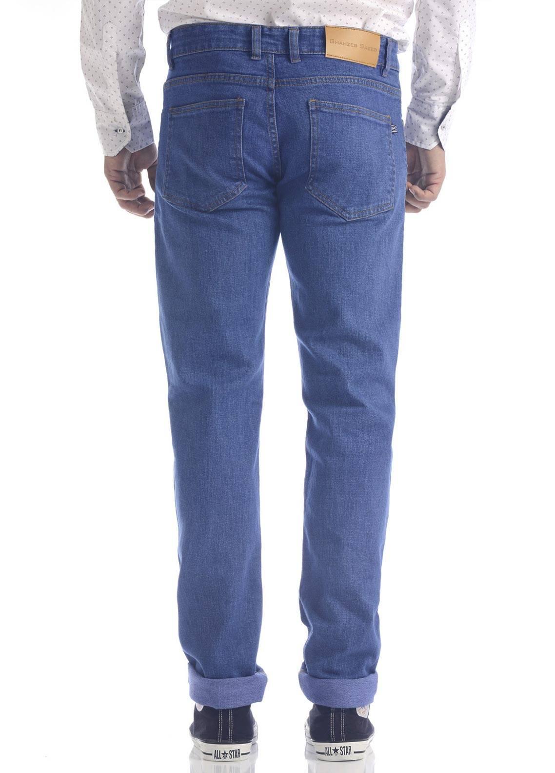 Shahzeb Saeed Denim Casual Jeans for Men - Royal Blue DNM-94