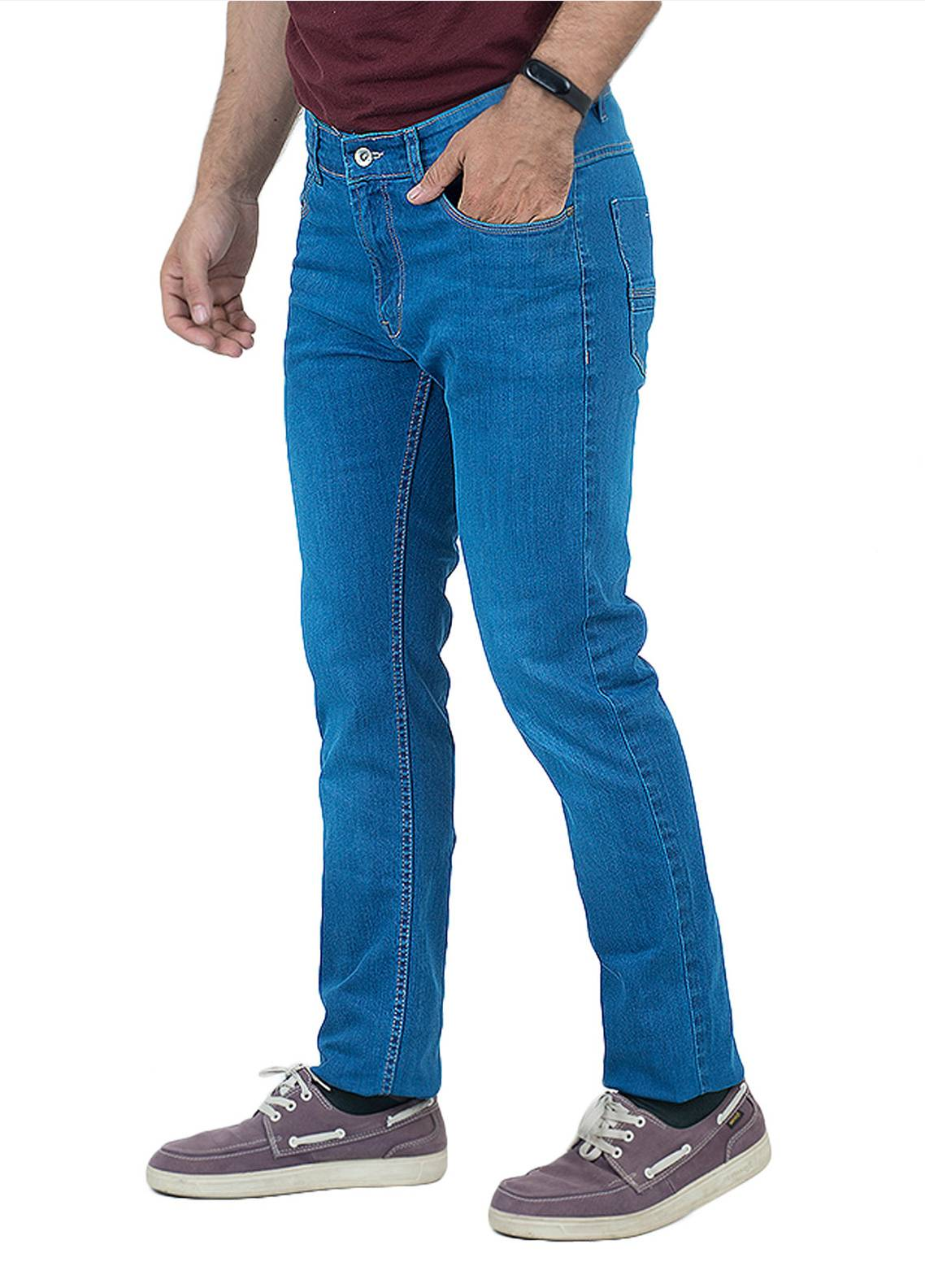 Shahzeb Saeed Denim Casual Jeans for Men - Royal Blue DNM-99