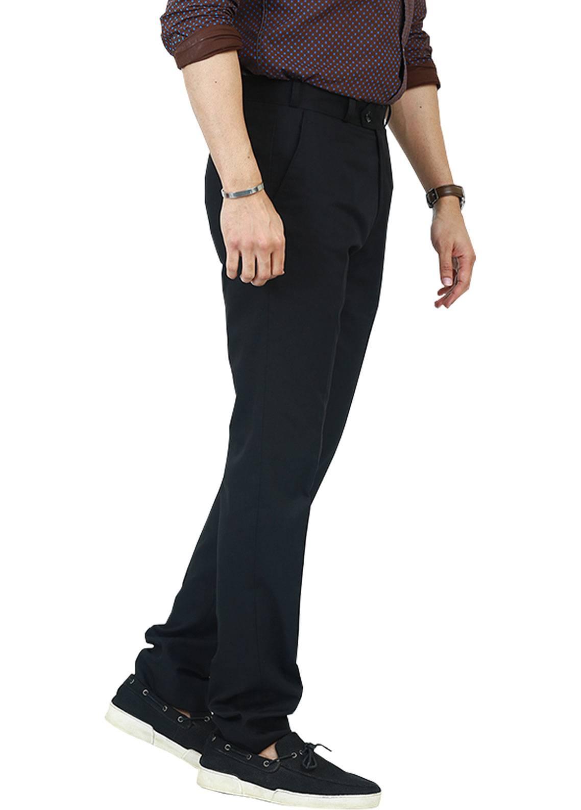 Shahzeb Saeed Wash N Wear Dress Trousers for Men - Black WTR-098