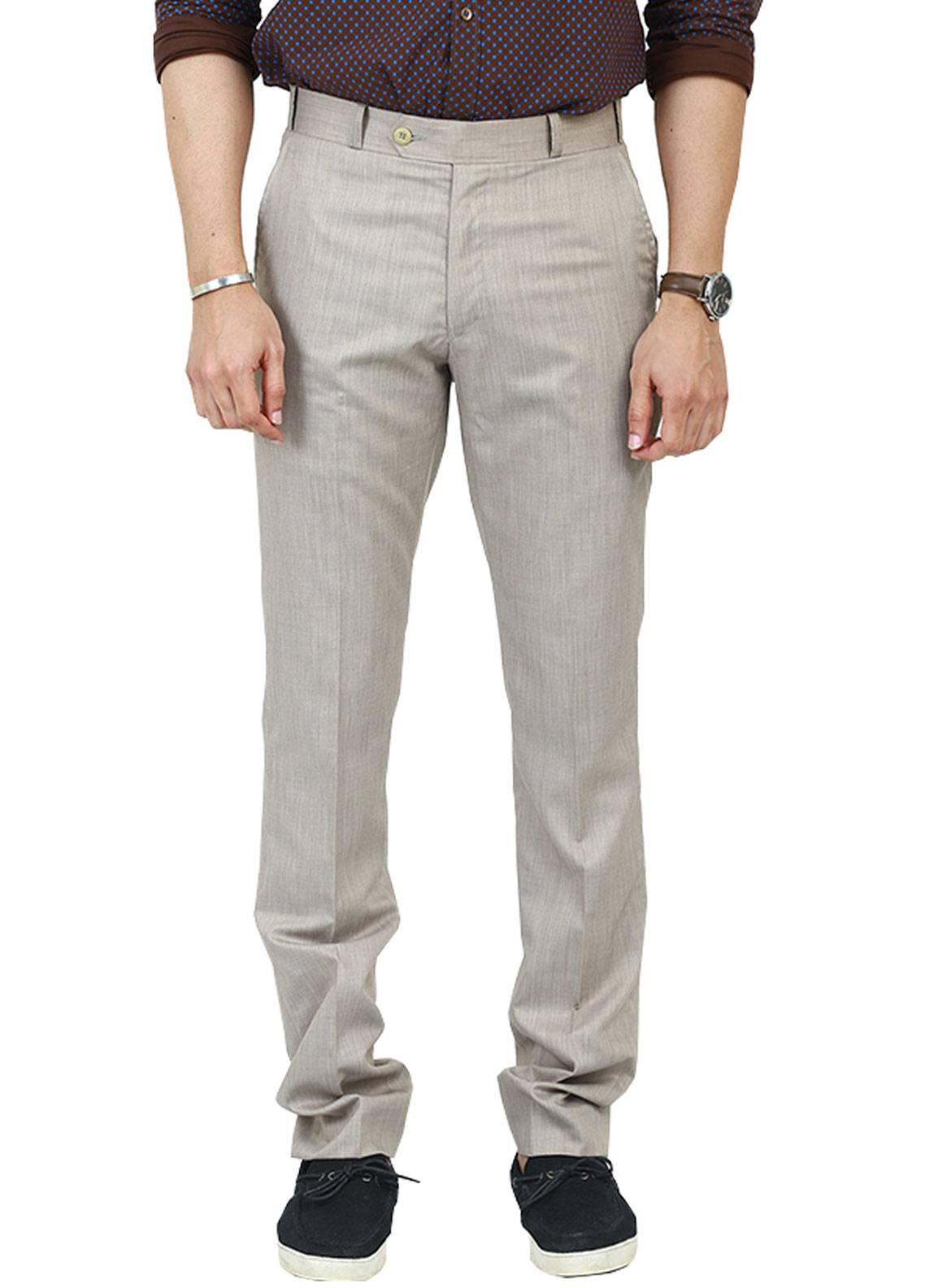 Shahzeb Saeed Wash N Wear Dress Trousers for Men - Brown WTR-106