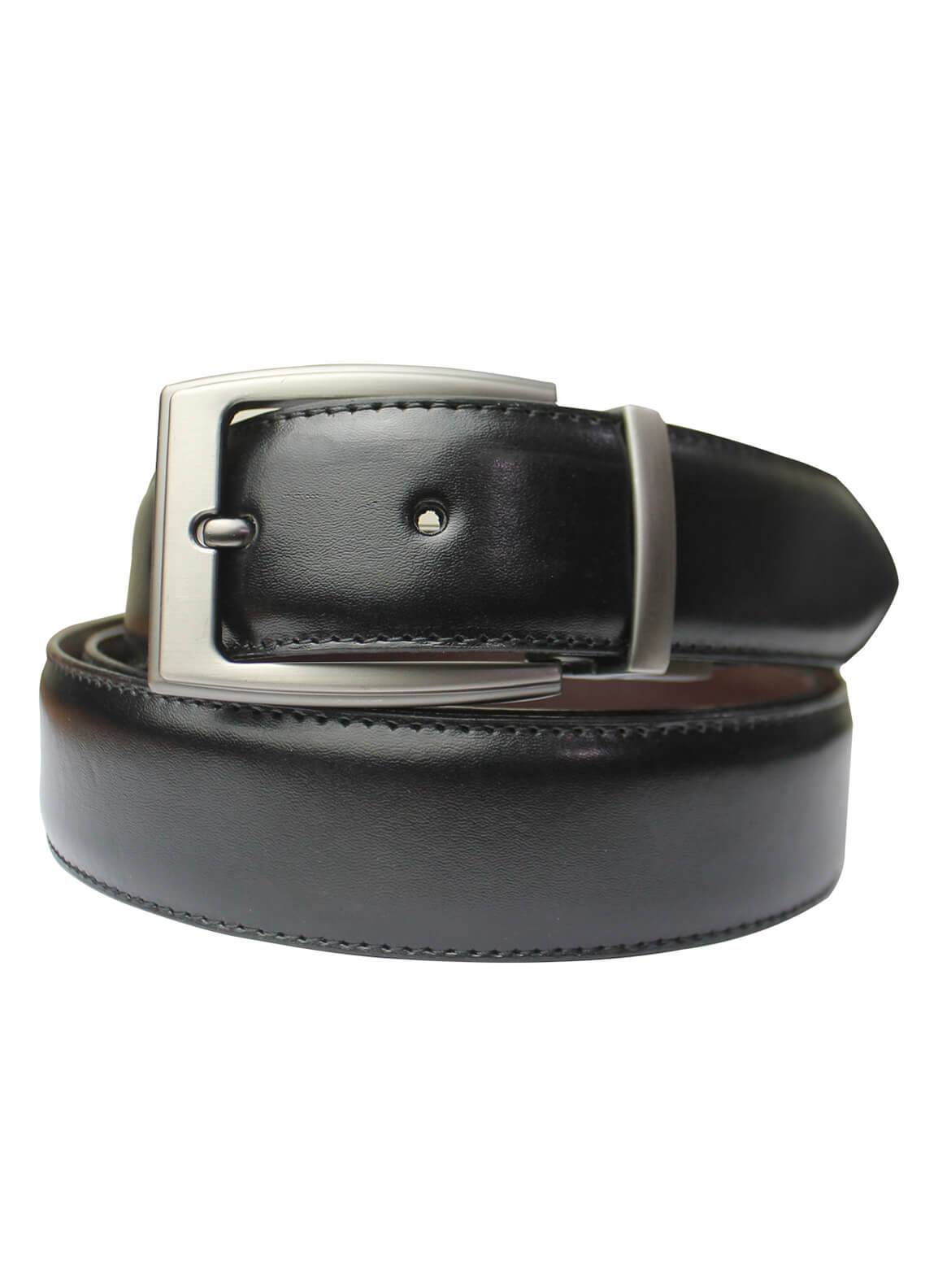 Shahzeb Saeed Textured Leather Men Belts BELT-149 Black - Casual Accessories