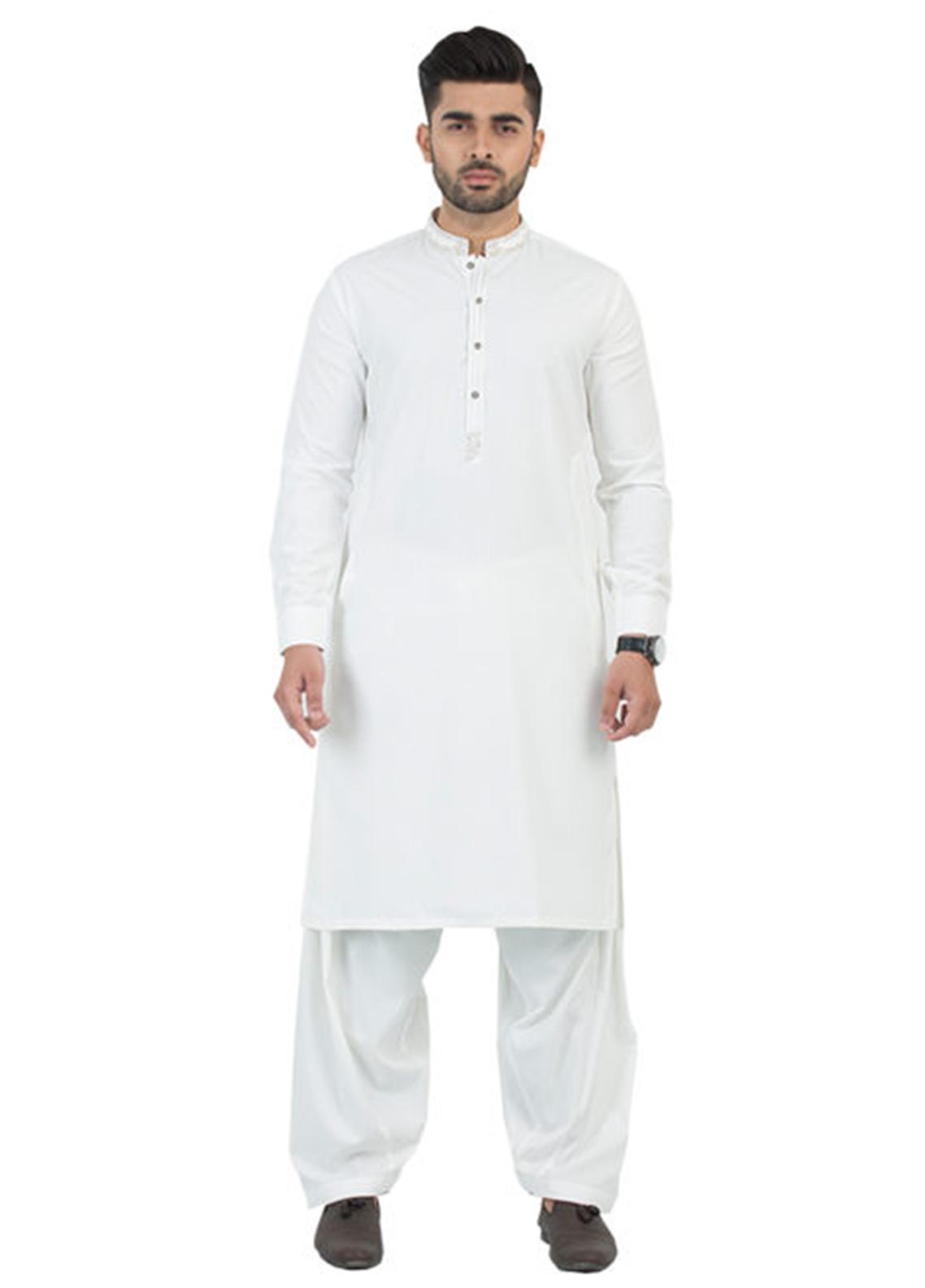 Shahzeb Saeed Wash N Wear Formal Men Kameez Shalwar - Off White SK-191