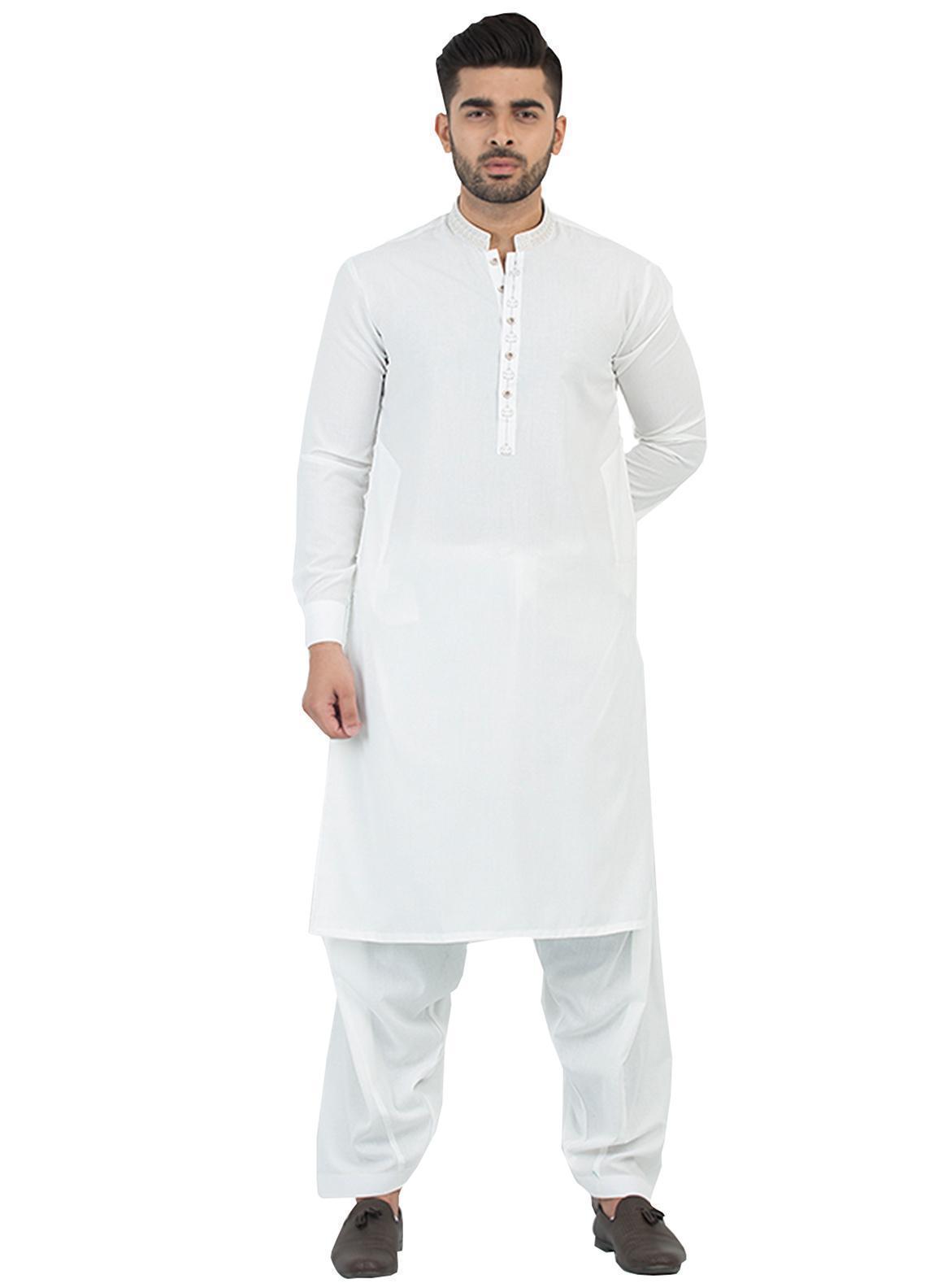 Shahzeb Saeed Wash N Wear Formal Kameez Shalwar for Men - Off White SK-198