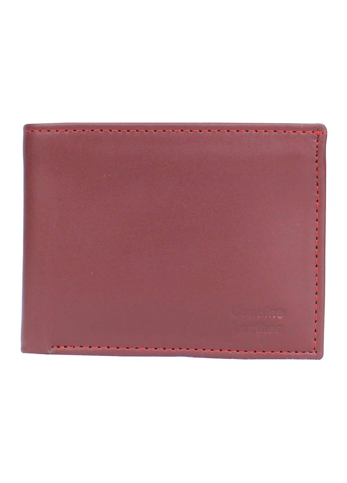 Shahzeb Saeed Plain Texture Leather Wallet W-062 - Men's Accessories