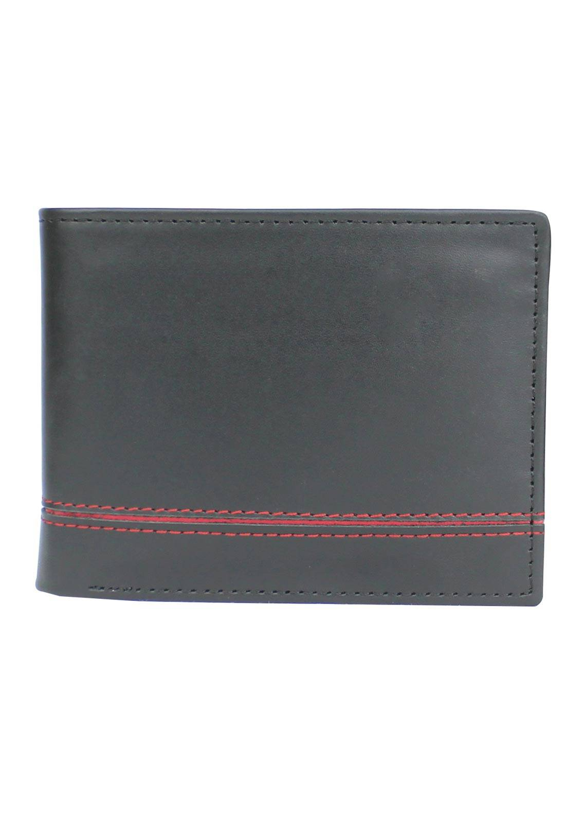 Shahzeb Saeed Plain Texture Leather Wallet W-064 - Men's Accessories