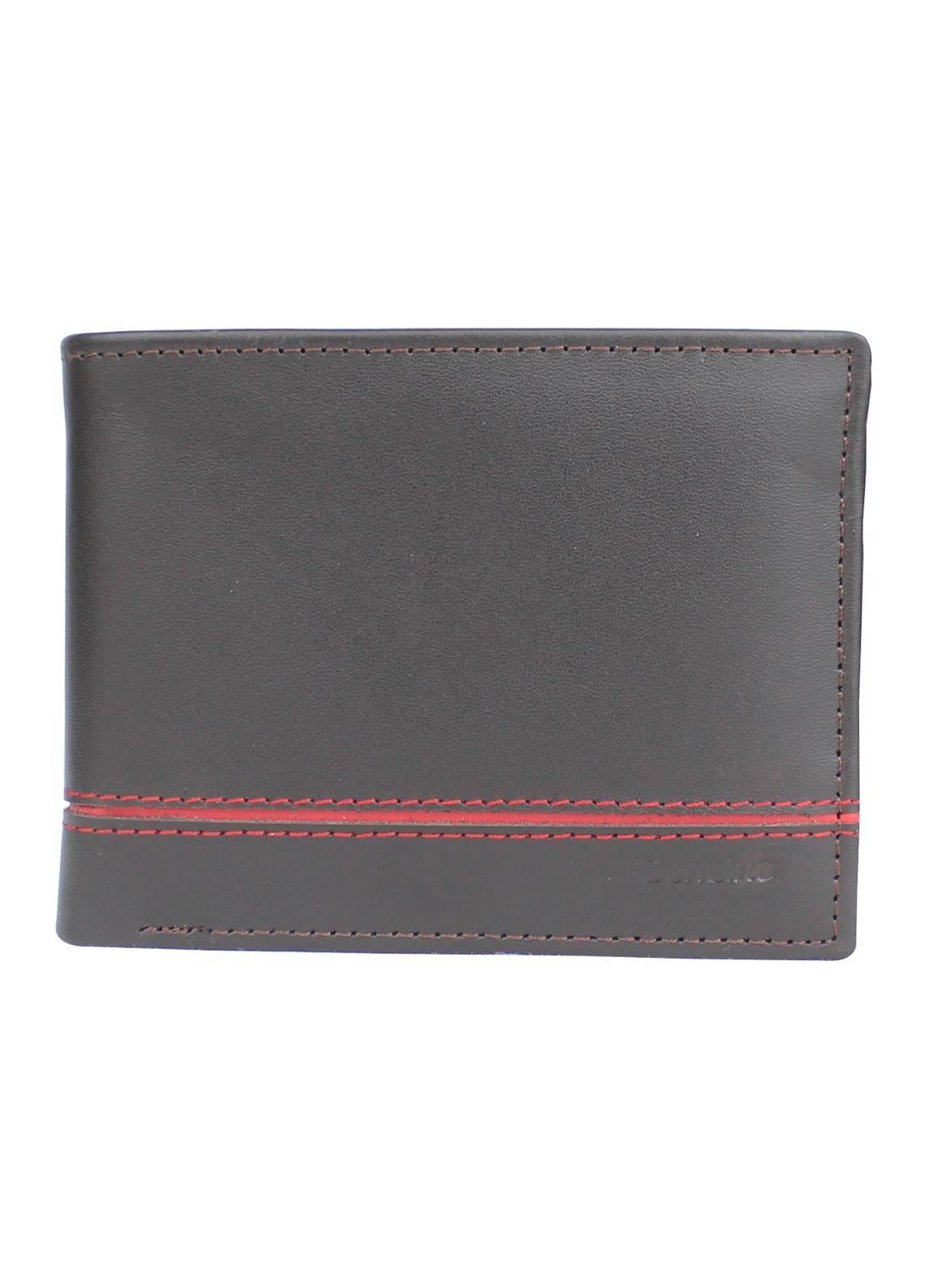 Shahzeb Saeed Plain Texture Leather Wallet W-065 - Men's Accessories