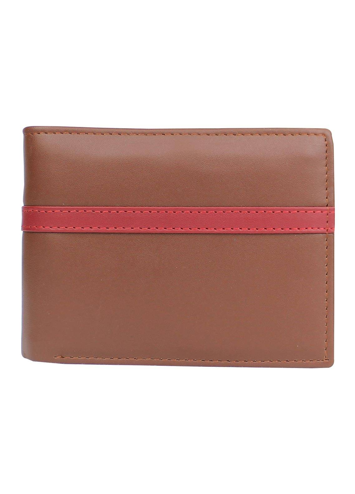 Shahzeb Saeed Plain Texture Leather Wallet W-081 - Men's Accessories