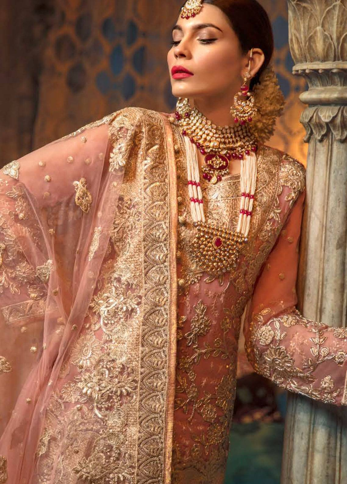 Maryum N Maria Embroidered Chiffon Unstitched 3 Piece Suit SMM19LC 10 Buah - Luxury Collection