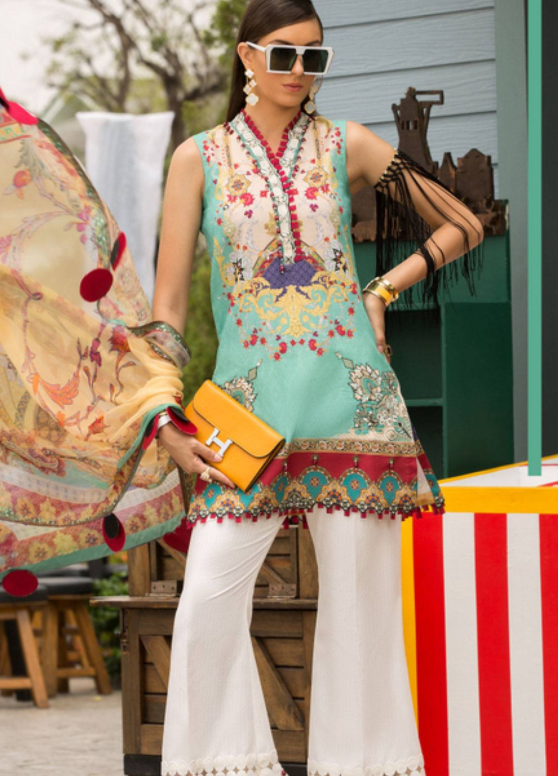Shanaya by Saadia Asad Embroidered Lawn Unstitched 3 Piece Suit SSA19L 01 - Spring / Summer Collection