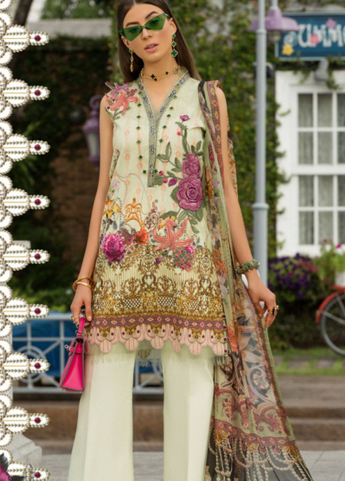 Shanaya by Saadia Asad Embroidered Lawn Unstitched 3 Piece Suit SSA19L 04 - Spring / Summer Collection