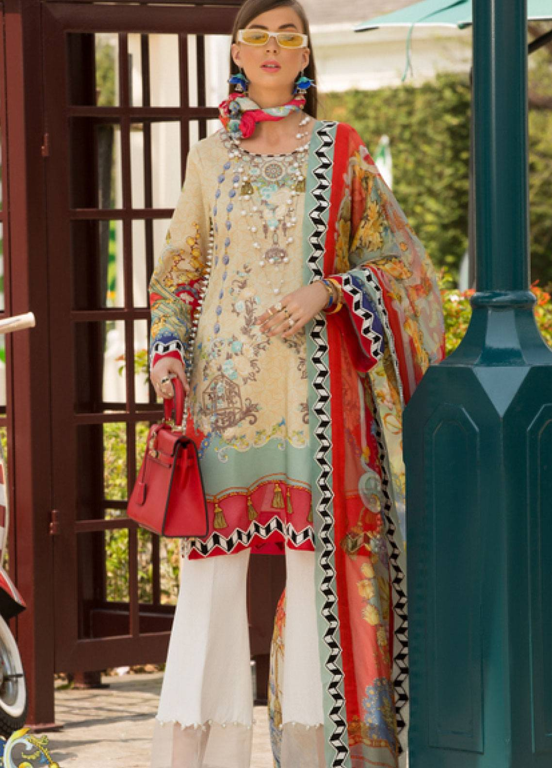 Shanaya by Saadia Asad Embroidered Lawn Unstitched 3 Piece Suit SSA19L 07 - Spring / Summer Collection