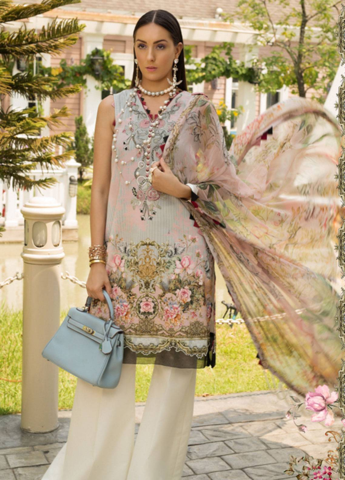 Shanaya by Saadia Asad Embroidered Lawn Unstitched 3 Piece Suit SSA19L 10 - Spring / Summer Collection