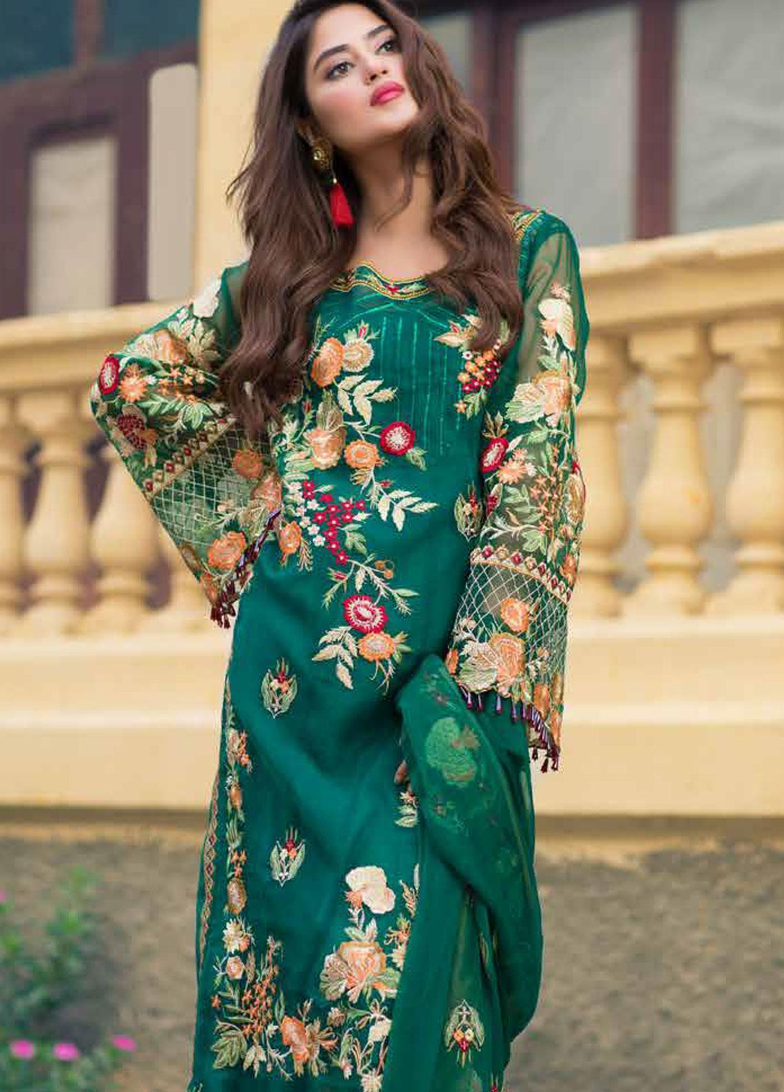 Sheeba Kapadia Embroidered Chiffon Unstitched 3 Piece Suit SHK19F POLIBIA - Formal Collection