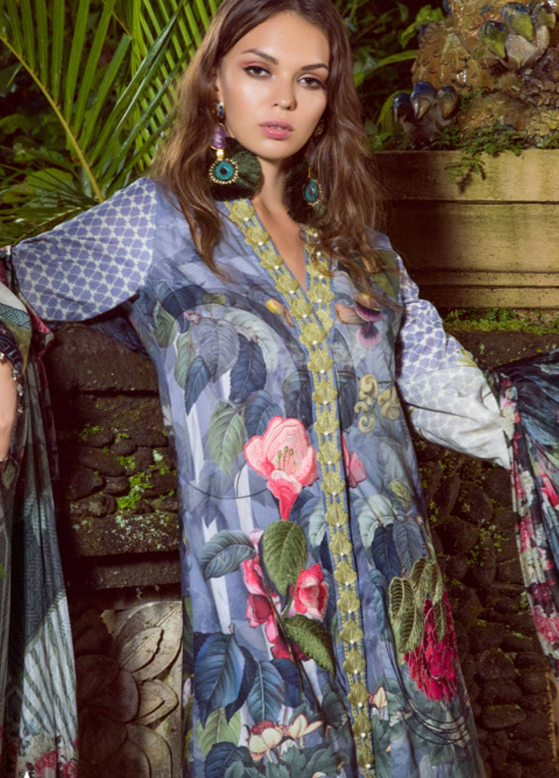 Shiza Hassan Embroidered Lawn Unstitched 3 Piece Suit SH19L 10A BALI BLOOM - Spring / Summer Collection