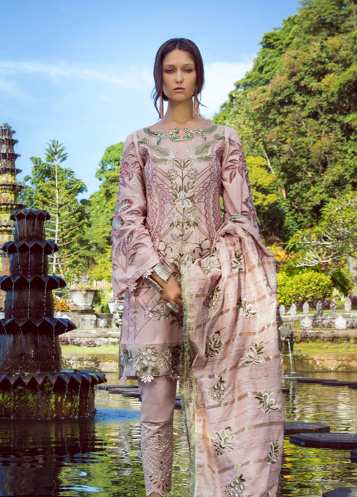 Shiza Hassan Embroidered Lawn Unstitched 3 Piece Suit SH19L 3B SORRET - Spring / Summer Collection