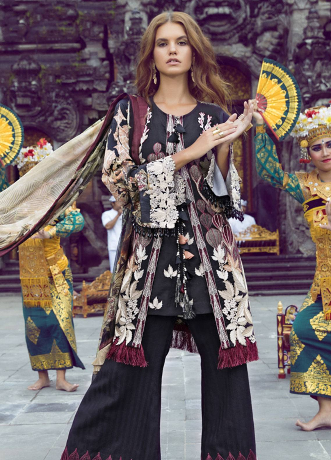 Shiza Hassan Embroidered Lawn Unstitched 3 Piece Suit SH19L 5A FOREST - Spring / Summer Collection
