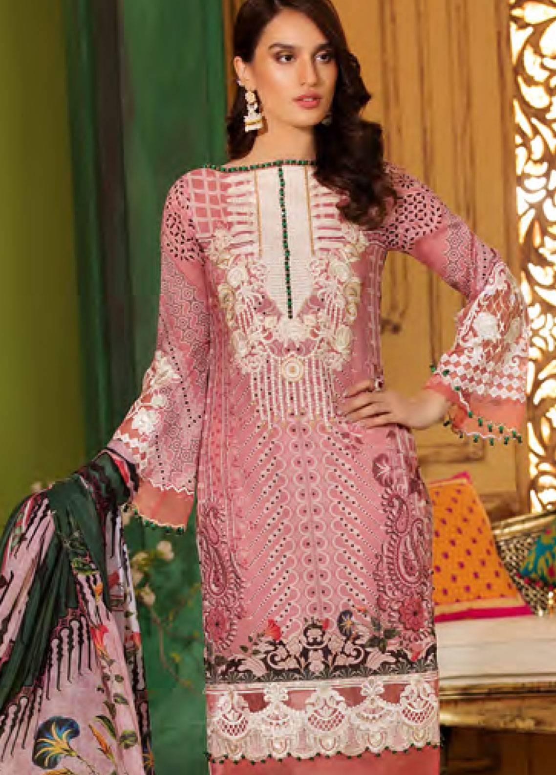 Sifona Embroidered Lawn Unstitched 3 Piece Suit SFA19CK 09 AESTHETIC JAPONICA - Luxury Collection