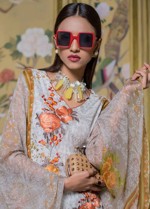 Summerina By LSM Embroidered Lawn Unstitched 3 Piece Suit SMR18L 11A - Spring / Summer Collection