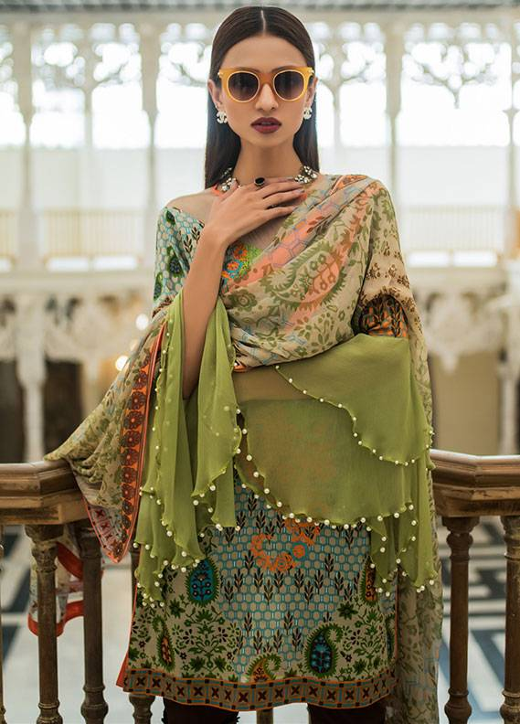 Summerina By LSM Embroidered Lawn Unstitched 3 Piece Suit SMR18L 4A - Spring / Summer Collection
