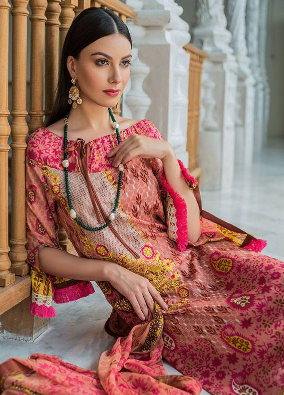 Summerina By LSM Embroidered Lawn Unstitched 3 Piece Suit SMR18L 4B - Spring / Summer Collection