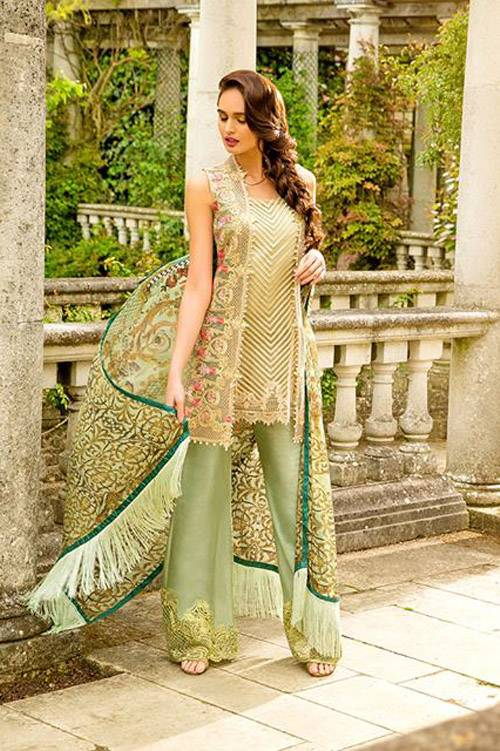 Sobia Nazir Embroidered Chiffon Unstitched 3 Piece Suit SN17E 02