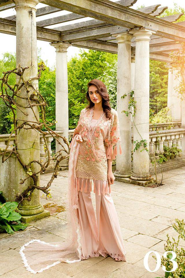 Sobia Nazir Embroidered Chiffon Unstitched 3 Piece Suit SN17E 03