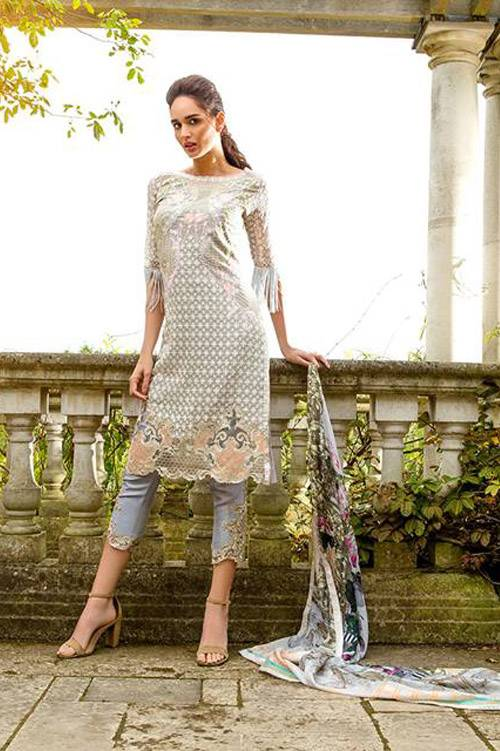 Sobia Nazir Embroidered Chiffon Unstitched 3 Piece Suit SN17E 04