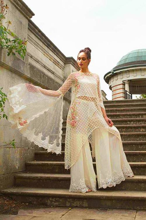 Sobia Nazir Embroidered Chiffon Unstitched 3 Piece Suit SN17E 07