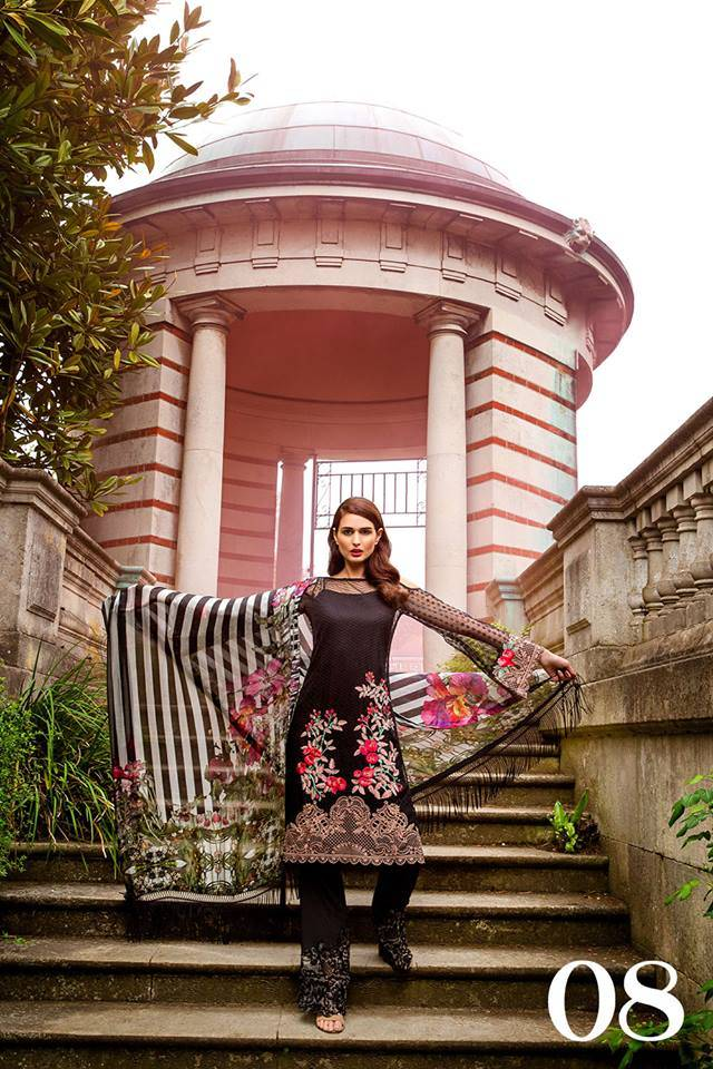 Sobia Nazir Embroidered Chiffon Unstitched 3 Piece Suit SN17E 08