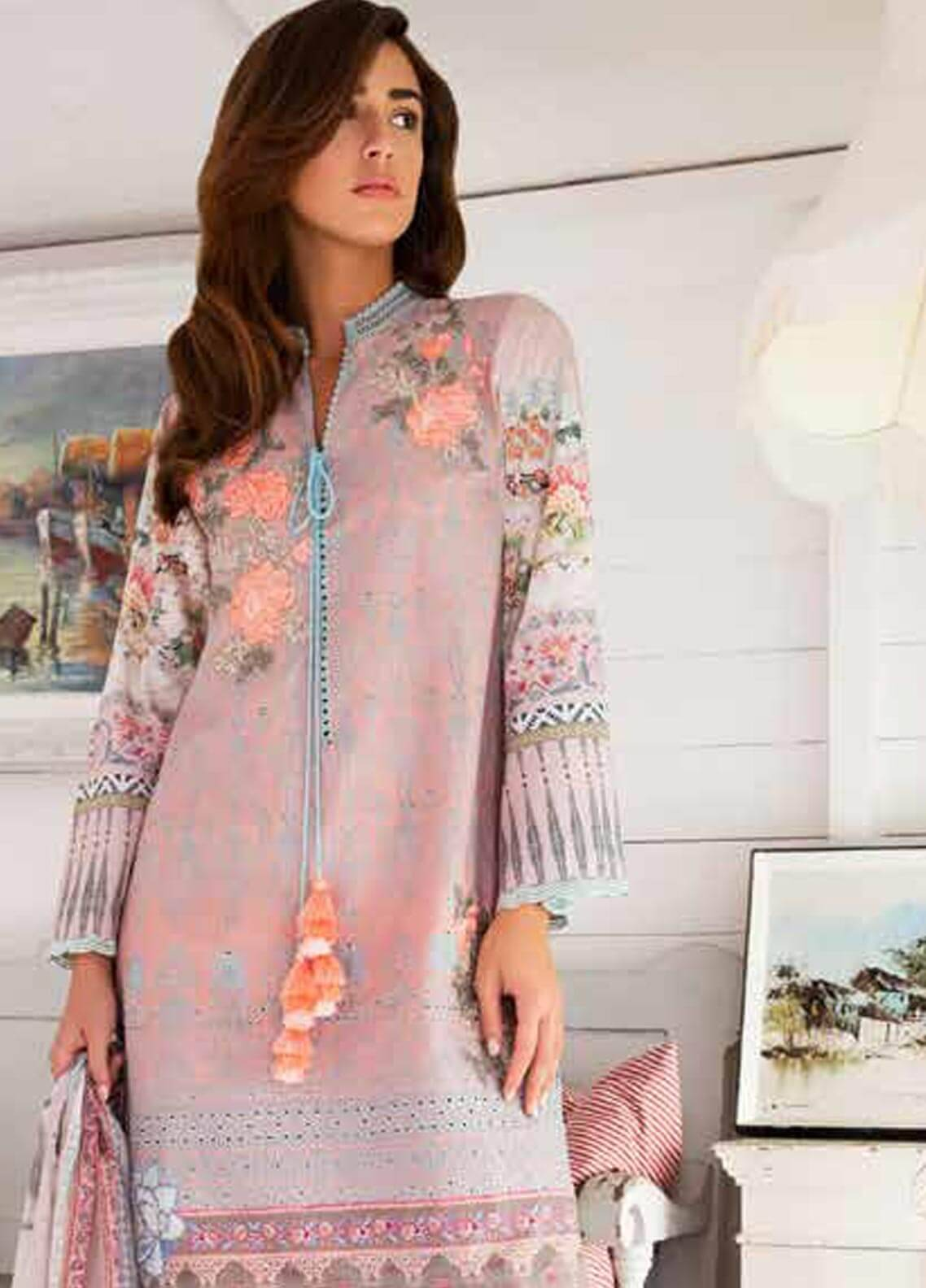 Sobia Nazir Embroidered Dobby Unstitched 3 Piece Suit SN18W 3B - Winter Collection