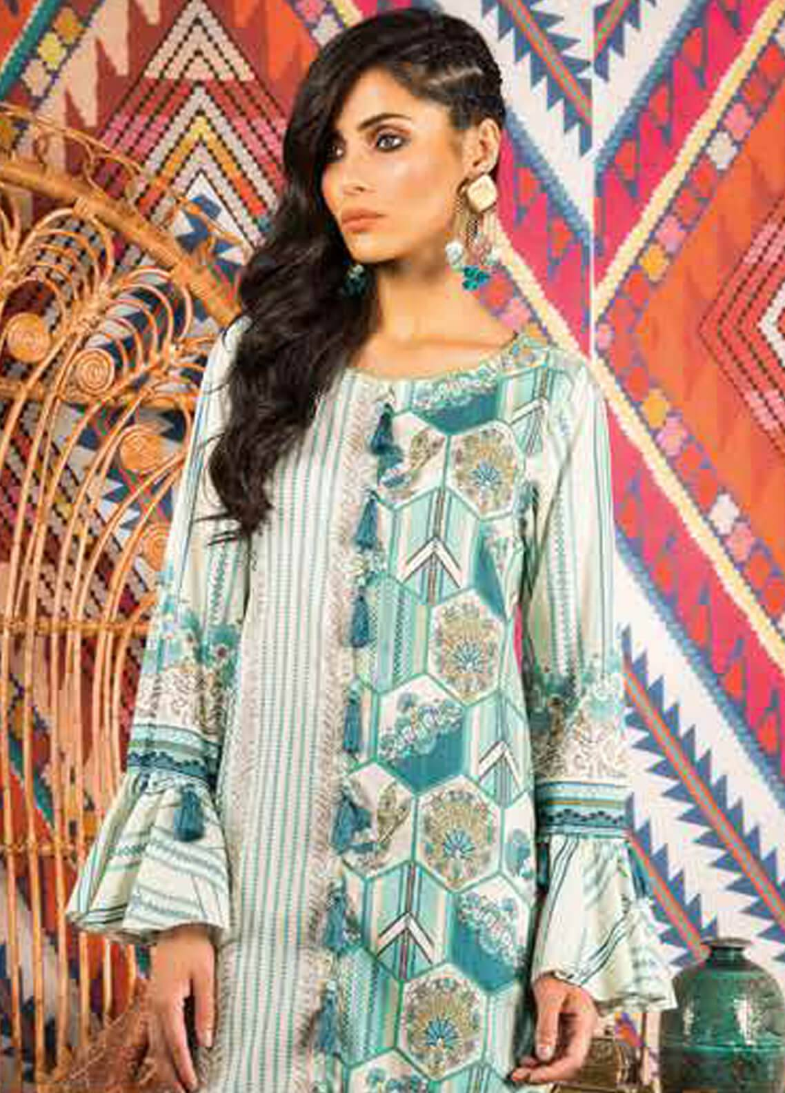Sapphire Printed Cotton Unstitched 2 Piece Suit The Way B - Autumn - Fall Collection