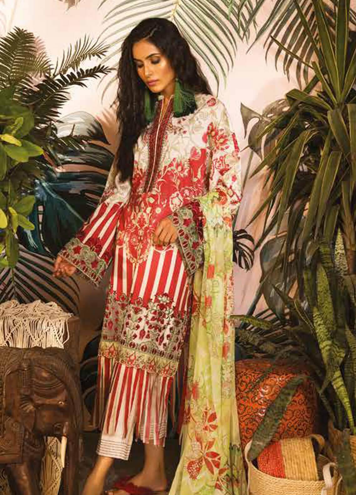 Sapphire Embroidered Cotton Unstitched 2 Piece Suit Uzbek Journey B - Autumn - Fall Collection