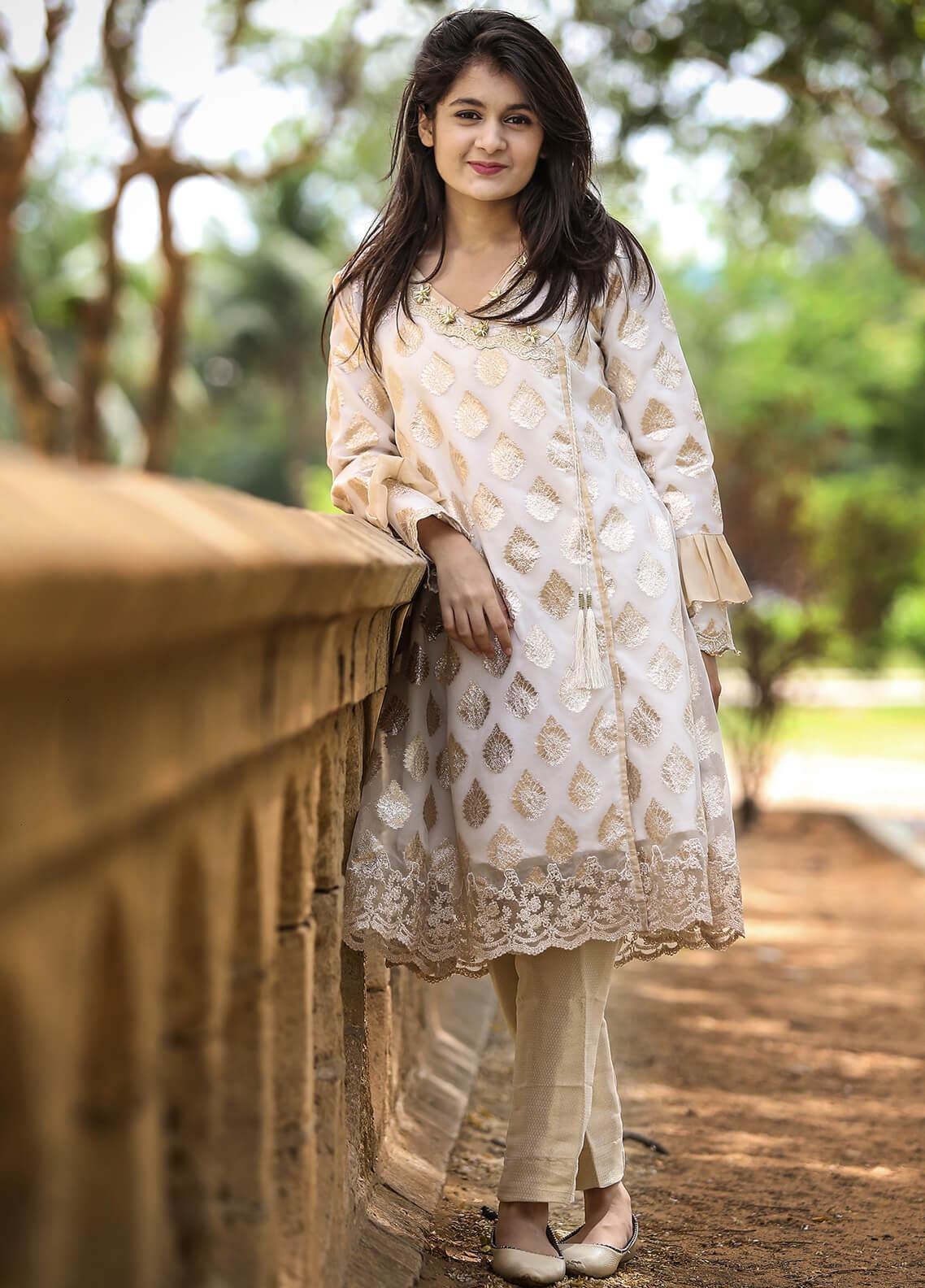Spade Embroidered Organza Stitched 3 Piece Suit C4WO-B2P3