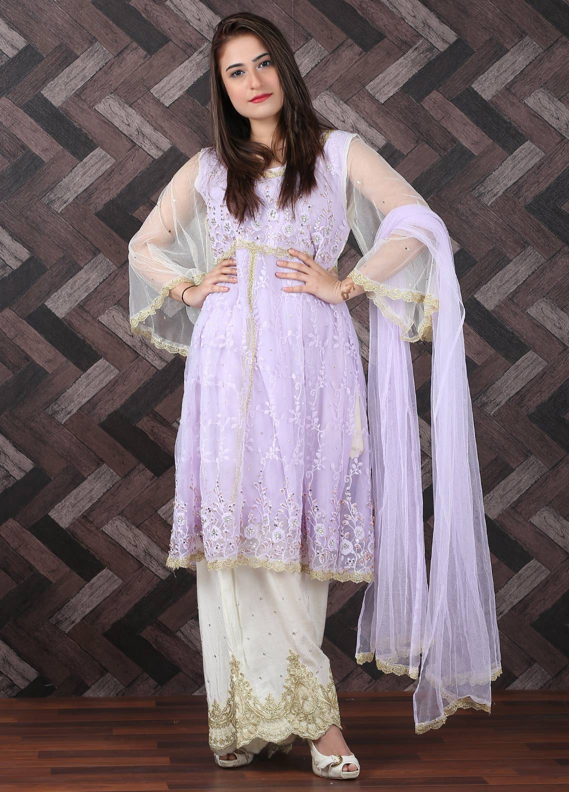 Spade Embroidered Cotton Silk Stitched 3 Piece Suit LPY-06