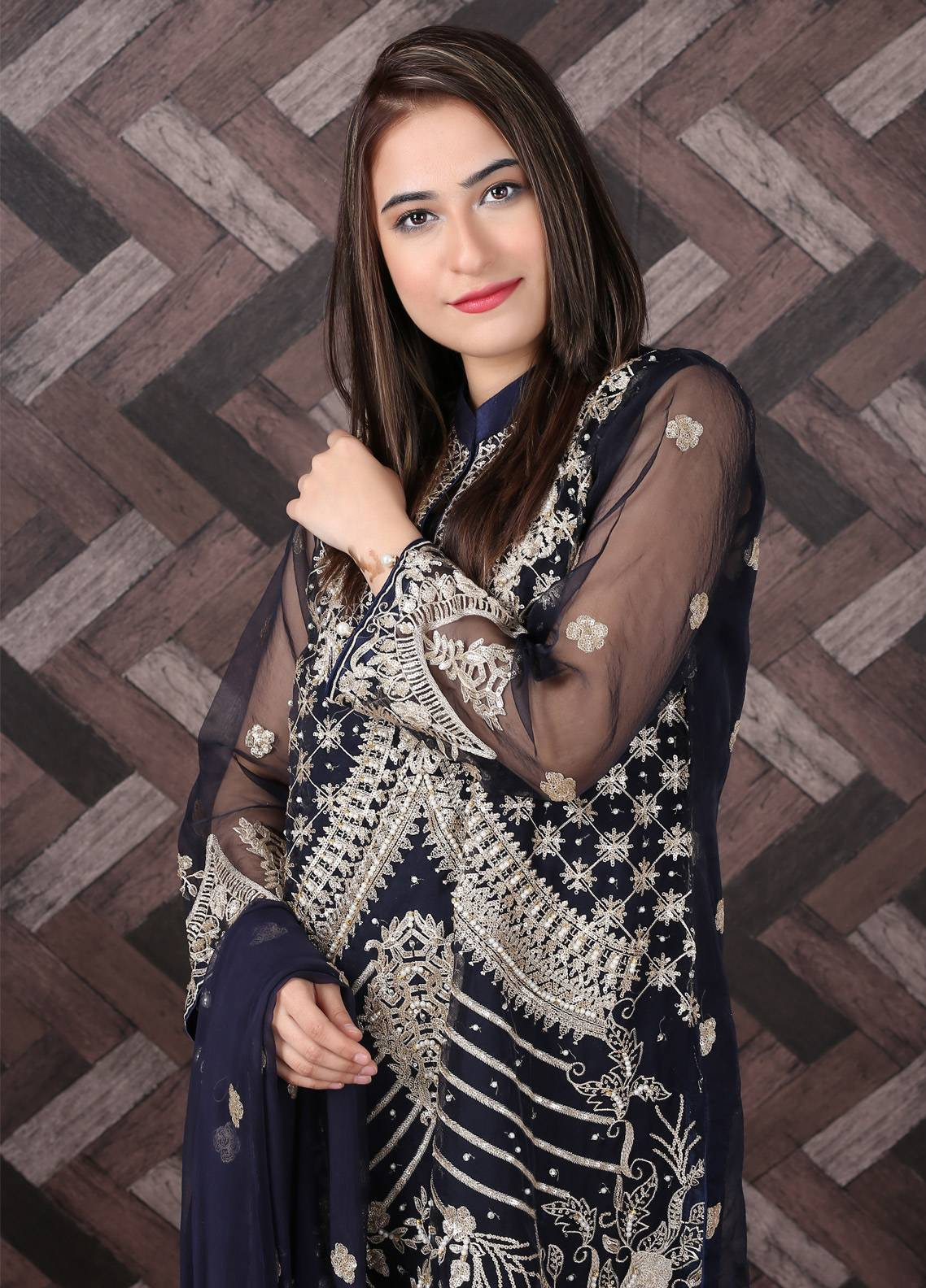 Spade Embroidered Organza Stitched 3 Piece Suit NBC-09