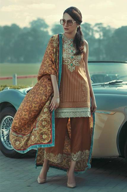 Saira Rizwan Embroidered Karandi Unstitched 3 Piece Suit SR16W 01
