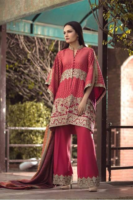 Saira Rizwan Embroidered Karandi Unstitched 3 Piece Suit SR16W 03