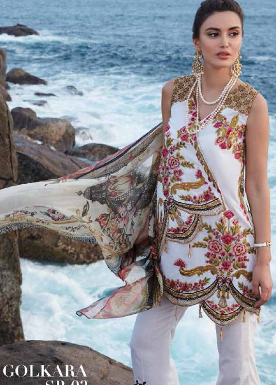 Saira Rizwan Embroidered Lawn Unstitched 3 Piece Suit SR18L 02 - Spring / Summer Collection
