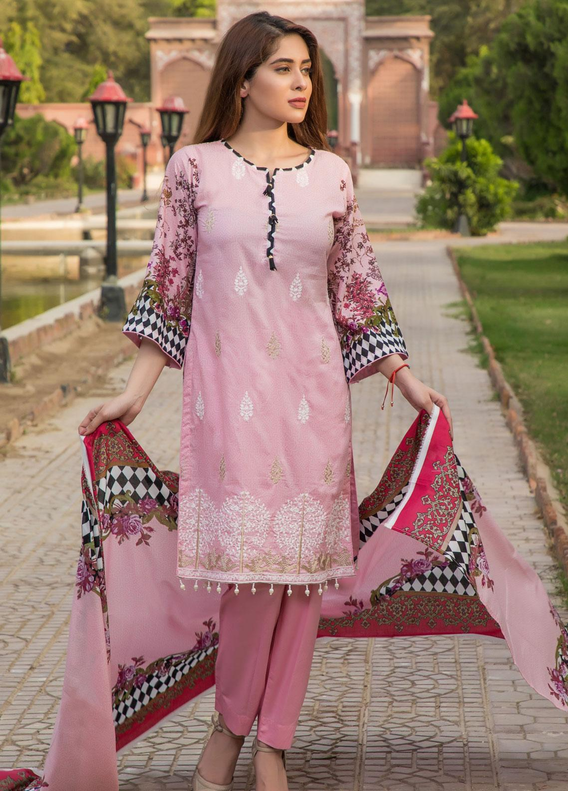 Subata by Regalia Textiles Embroidered Lawn Unstitched 3 Piece Suit SBR19F 3A - Festive Collection