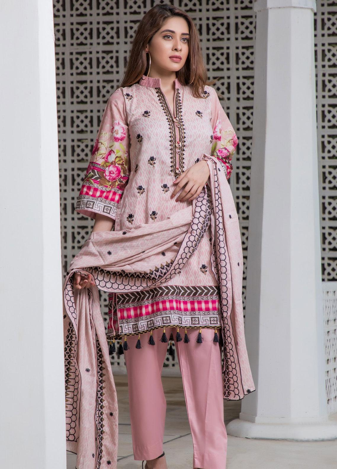 Subata by Regalia Textiles Embroidered Lawn Unstitched 3 Piece Suit SBR19F 5A - Festive Collection