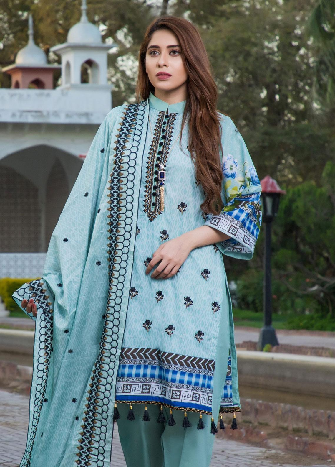 Subata by Regalia Textiles Embroidered Lawn Unstitched 3 Piece Suit SBR19F 5B - Festive Collection