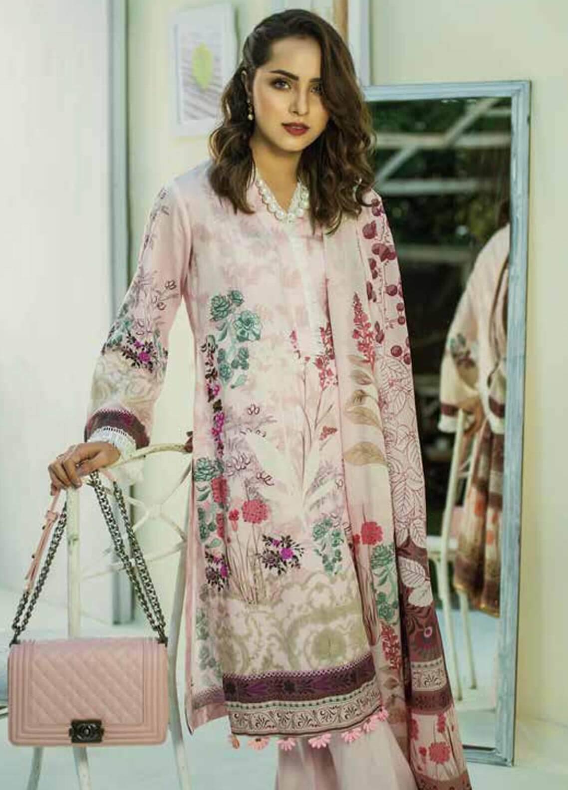 Al Zohaib Printed Cotton Silk Unstitched 3 Piece Suit AZ18CS 22A - Premium Collection